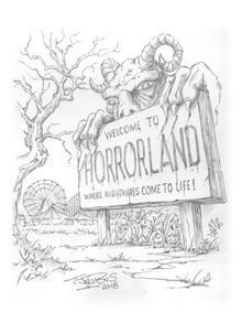 One Dat at HorrorLand 2020 sketch