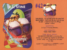 Goosebumps 42 Egg Monsters from Mars trading card front and back