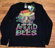 17 Afraid of Bees 1995 black sweatshirt front