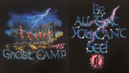 45 Ghost Camp All You Cant See T-shirt f+b detail