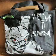 Horrorland B&W tote bag