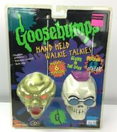 Curly Haunted Mask Hand held Walkie-Talkies MGA in pkg front