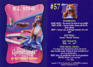 Goosebumps 57 Best Friend is Invisible trading card front and back