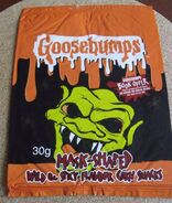 Haunted Mask 2003 Spicy Corn Snacks Red Mill UK packaging