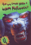32 Barking Ghost Halloween greeting card front