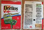 Doritos bag with glow-in-the-dark Goosebumps trading cards 1994
