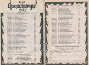 Goosebumps 1-52 booklist Got Yet from OS 53