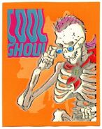 Curly Cool Ghoul 1996 Merlin 49 textured sticker