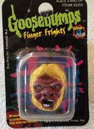 Abominable Snowman finger frights ring in box front