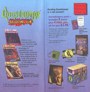 Goosebumps Collectors Club ad from Scholastic Book Clubs pamphlet
