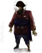 Zombie pirate concept artwork