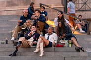 Gossip girl reboot cast on the steps