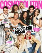 Gossip Girl 2021 cast Cosmopolitan cover