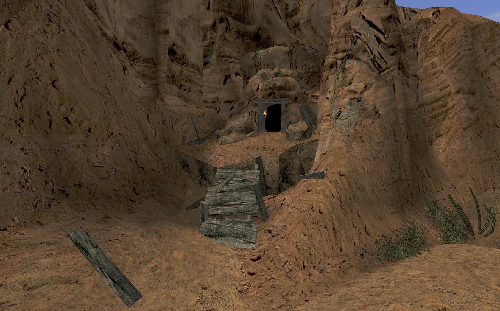 Opuszczona jaskinia w kanionie