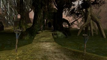 Główne wejście do obozu