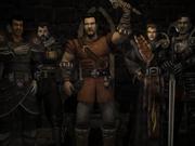 Bezimienny oraz inni bohaterowie w sali tronowej po koronacji na króla Rhobara III