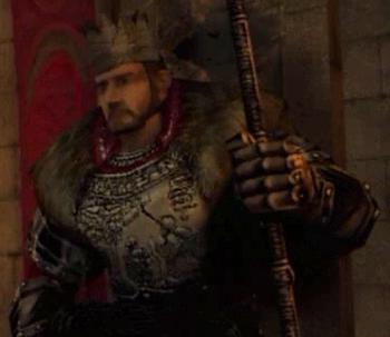 Król Rhobar w intro pierwszej części