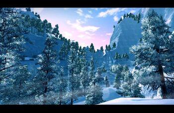 Białe góry Nordmaru