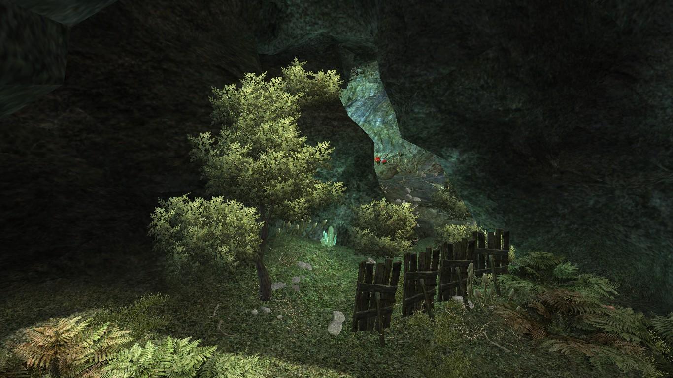 Jaskinia w lesie koło Montery