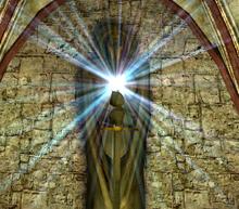 Posąg Innosa w klasztorze (Gothic II) (by Jao98)