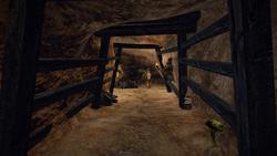 Kopalnia w Ben Erai wnetrze korytarza