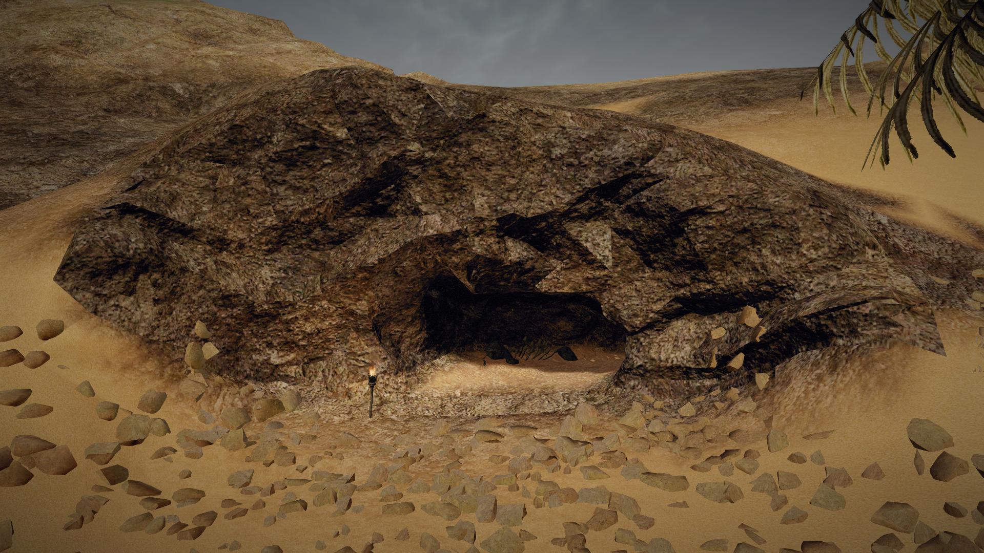 Jaskinia rabusiów na północ od Ben Sali