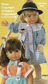 1986 HELEN - Götz Modell Play Doll - 20 Inch Soft-Bodied Doll with Jointed Arms and Legs - WEICHGELENKPUPPE 63064 - Blonde Hair, Blue Eyes - Checkered Dress with Pink Bow
