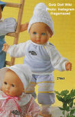 1986 BOBBY - Gotz Modell Play Doll - 16 Inch Soft-Bodied Baby Doll - WEICHBABY 27061 - Bald Baby Doll - Blue Eyes - Blue and Yellow Outfit with Yellow Piping