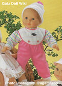 1986 WALTER - Gotz Modell Play Doll - 22 Inch Soft-Bodied Baby Doll - WEICHBABY 60067 - Bald Baby Doll - Brown Eyes - Striped Knit Shirt with White and Pink Overalls
