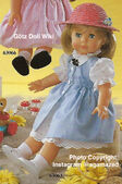 1986 HEIDI - Götz Modell Play Doll - 20 Inch Soft-Bodied Doll with Jointed Arms and Legs - WEICHGELENKPUPPE 63063 - Blonde Hair, Blue Eyes - Blue Dress, White Shirt
