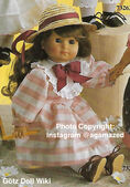1986 NATALIE - Götz Elegance Play Doll - 18 Inch Soft Doll - WEICHPUPPE 73261 - Brown Hair, Brown Eyes - White and Pink Striped Dress
