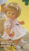 1986 PAULINE - Götz Modell Play Doll - 16 Inch Drink and Wet Anatomically Correct - TRINK- UND