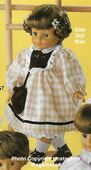 1986 LISA - Götz Elegance Play Doll - 18 Inch Soft Doll with Kanekalon Wig - WEICHPUPPE mit KANEKALON PERUCKE 57265 - Brown Hair, Brown Eyes - Brown, Yellow and White Dress