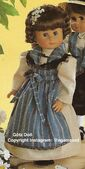 1986 GRETEL - Götz Elegance Play Doll - 20 Inch Soft-Bodied Doll with Kanekalon Wig - WEICHPUPPE mit KANEKALON PERUCKE 48263 - Brown Hair, Brown Eyes - White and Blue Apron Dress
