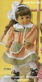 1986 LOUISA - Götz Elegance Play Doll - 18 Inch Soft Doll with Kanekalon Wig - WEICHPUPPE mit KANEKALON PERUCKE 57264 - Brown Hair, Brown Eyes - Peach and Green Dress