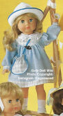 1986 FRANCIS - Götz Modell Play Doll - 20 Inch Soft-Bodied Doll - WEICHPUPPE 09069 - Blonde Hair, Blue Eyes - Pink and White Dress with White Lapel
