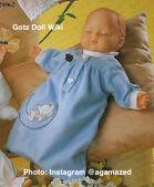 1986 CHARLOTTE - BLUE - Gotz Modell Play Doll - 16 Inch Soft Baby - WEICHBABY 20061 - Sleeping Baby Doll in Blue Sleep Gown