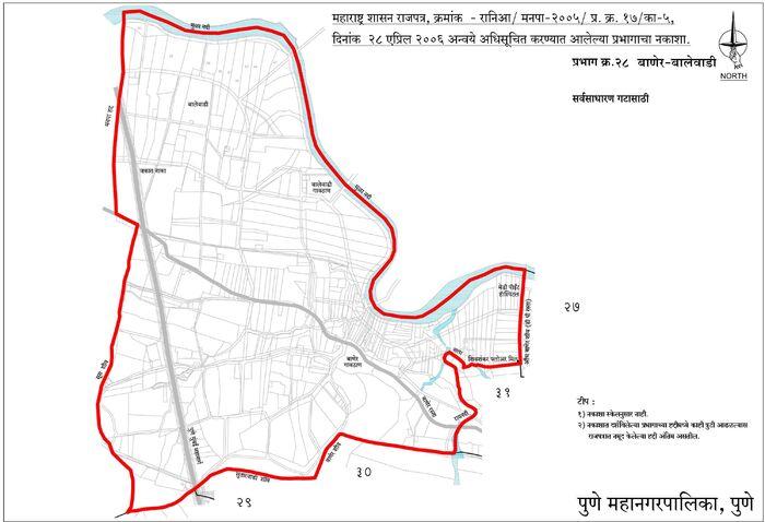 Electoral Ward Map of Baner Balewadi
