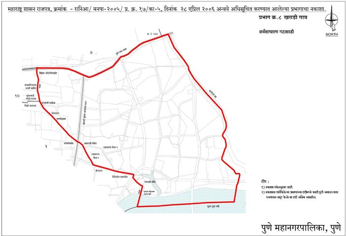 Electoral Ward Map Kharadi Gaon