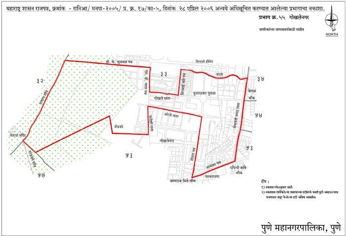 Electoral Ward Map Gokhale Nagar