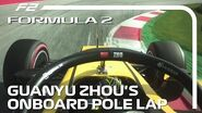 Guanyu Zhou Secures First F2 Pole Of The Season 2020 Austrian Grand Prix