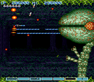 Gradius III Stage 8 Boss SNES
