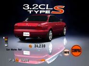 Acura CL 3.2 Type-S '01 - Rear (GT3)