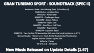 Gran Turismo Sport - Update Detalis 1.67 (New Music Released)