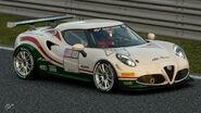 Alfa Romeo 4C Gr.4 Michelin Tire Sticker (White-Red-Green)