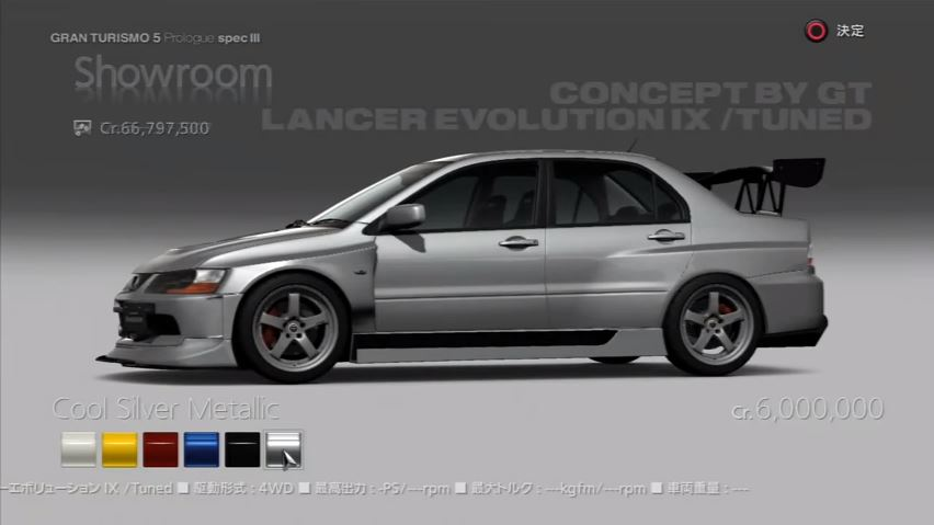 Mitsubishi Lancer Evolution IX GSR Tuned Car