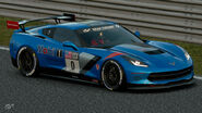 Chevrolet Corvette C7 Gr.4 Michelin Tire Sticker (Blue)