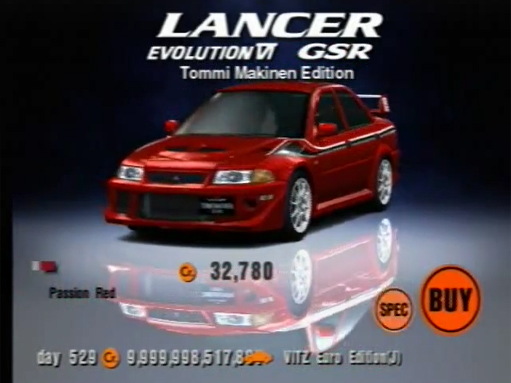 Mitsubishi Lancer Evolution VI GSR T.M. EDITION Special Color Package '99