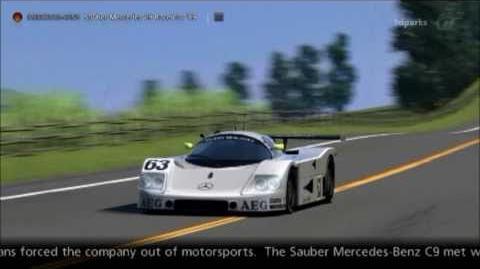 Mercedes-Benz Sauber Mercedes C9 Race Car '89