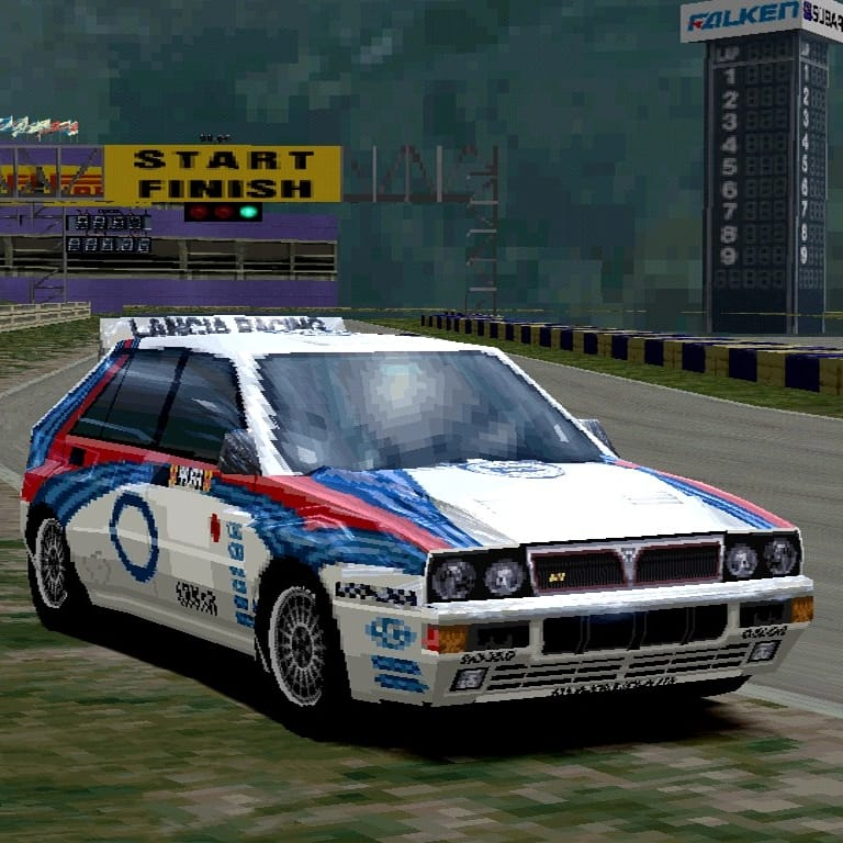 Lancia Delta HF Integrale Rally Car